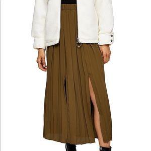 Topshop pleated midi skirt